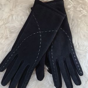 Winter driving dress suede like gloves